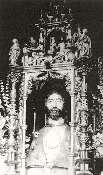 El relicario de San Bartolomé, que primero estuvo en el monasterio jerónimo, luego en la parroquia de Lupiana, y al fin en 1900 se perdió para siempre.