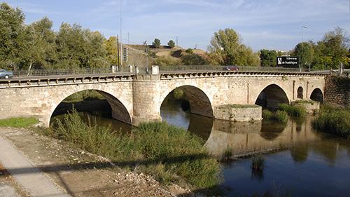 El puente árabe sobre el Henares en Guadalajara