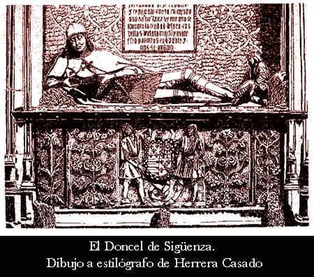 Dibujo a plumilla de El Doncel por Herrera Casado