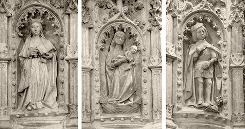 Figuras del pulpito de la epistola de la catedral de Sigüenza