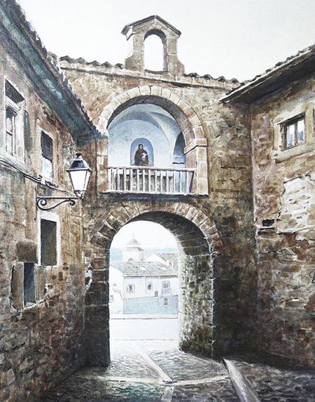 Arco del portal mayor en Sigüenza