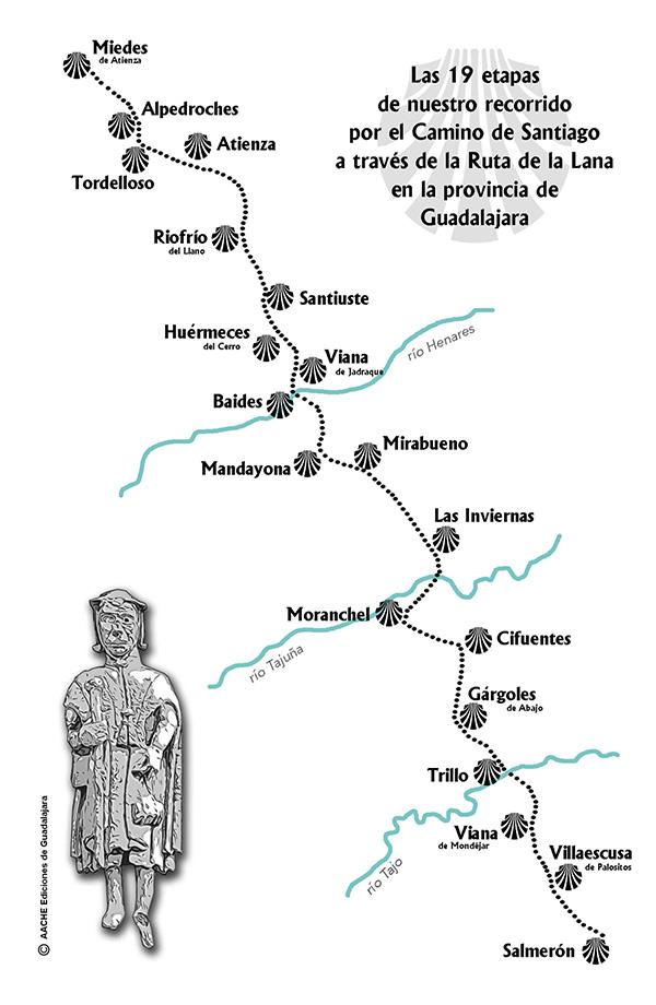 El camino de Santiago por la ruta de la lana por la provincia de Guadalajara