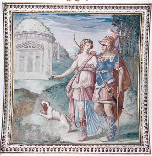atalanta e Hipomenes en el palacio del Infantado de Guadalajara
